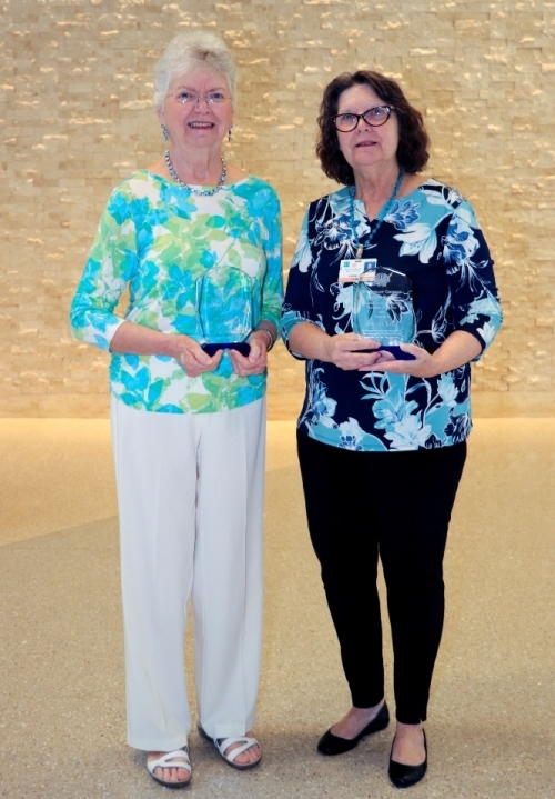Brunswick Campus Volunteer of the Year Patti Crandall (left) and Camden Campus Volunteer of the Year Jeanne Kelly (right).